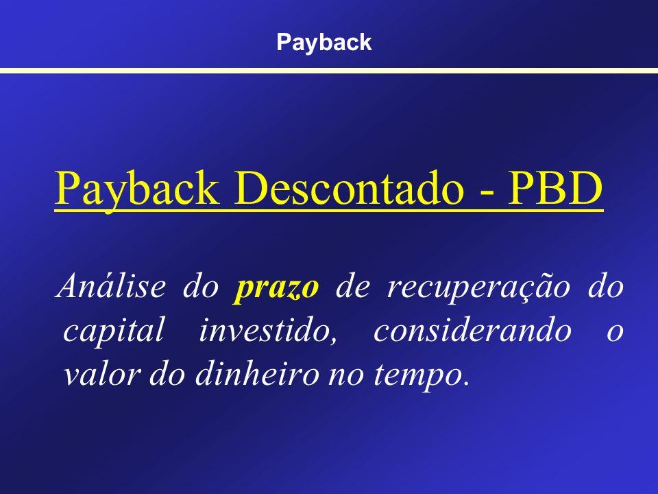 Payback Descontado - PBD