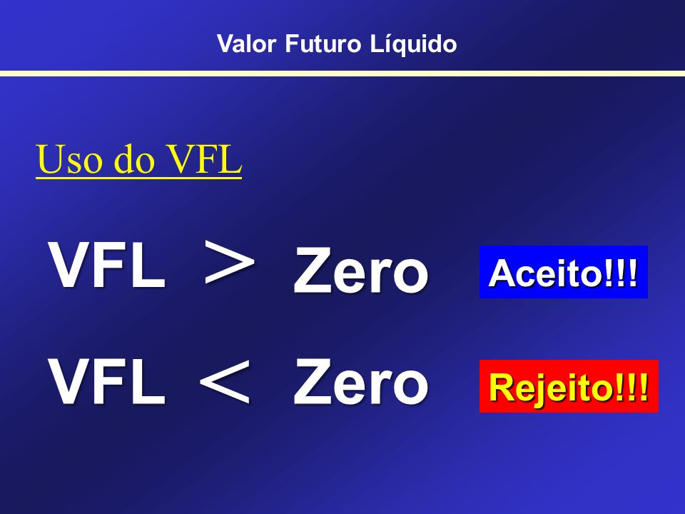 > < VFL Zero VFL Zero Uso do VFL Aceito!!! Rejeito!!!
