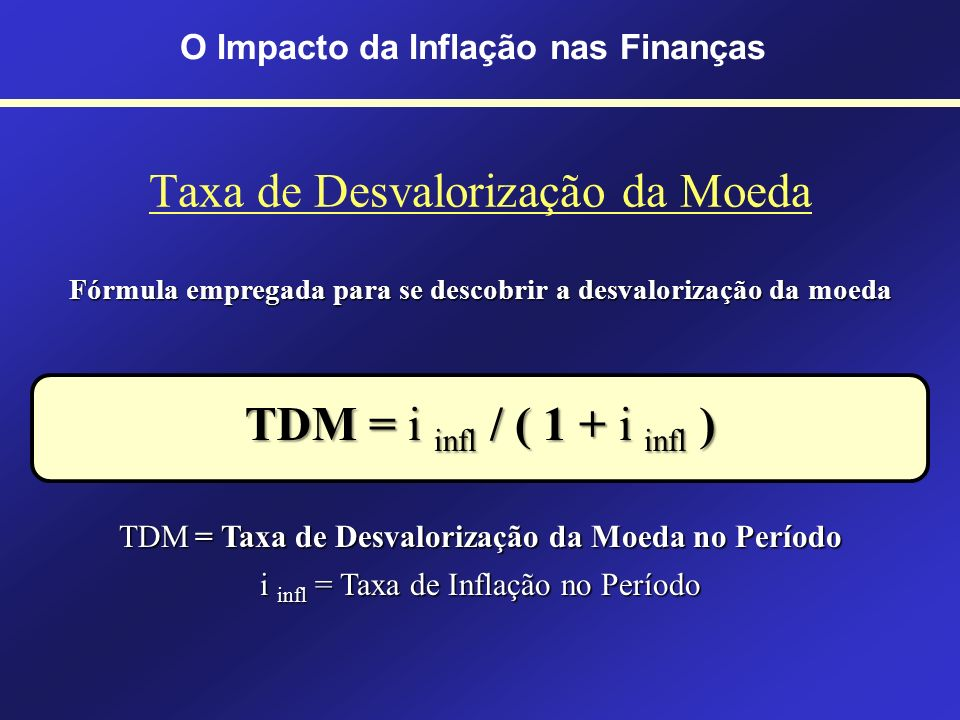 Taxa de Desvalorização da Moeda