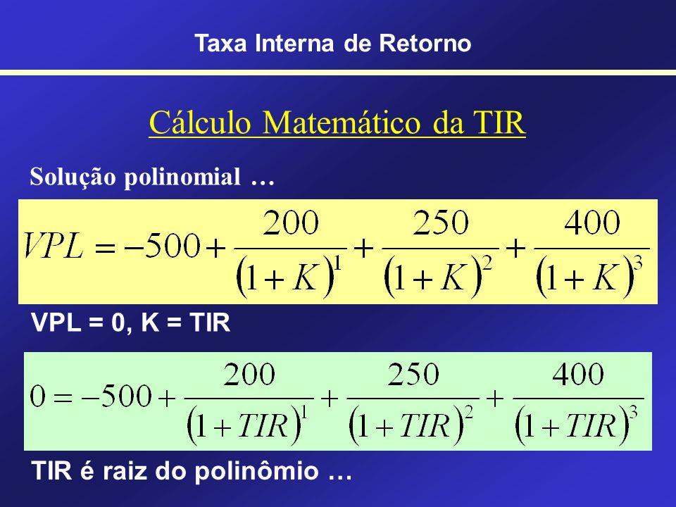 Cálculo Matemático da TIR