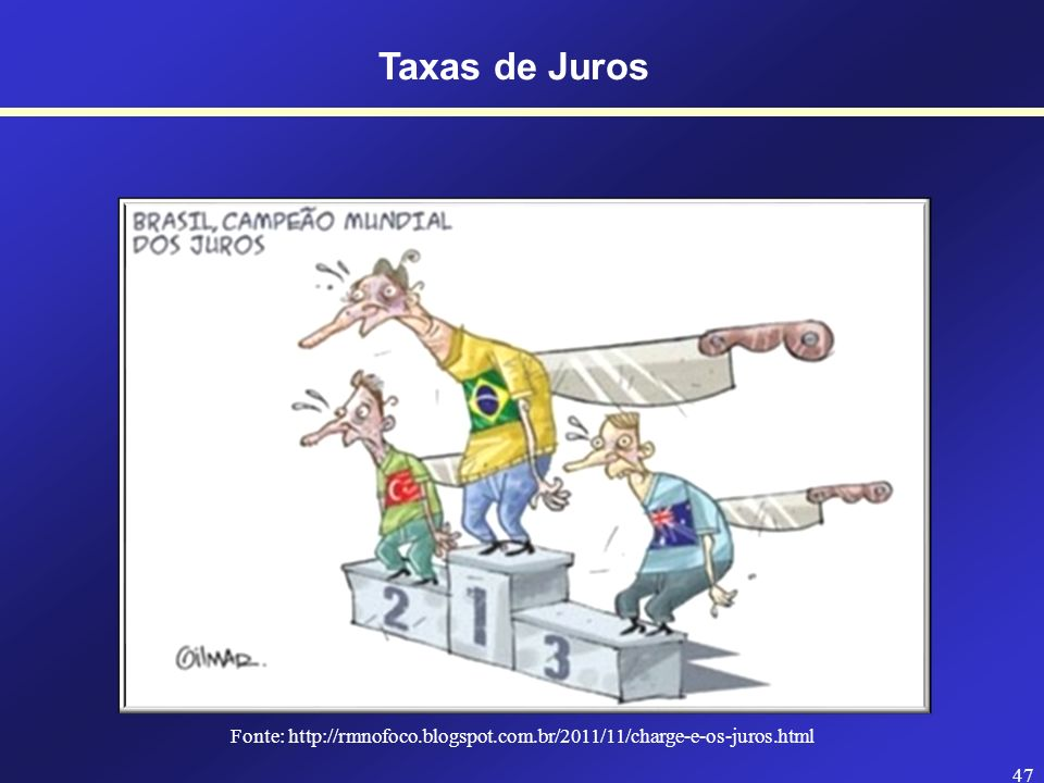 Fonte: http://rmnofoco.blogspot.com.br/2011/11/charge-e-os-juros.html