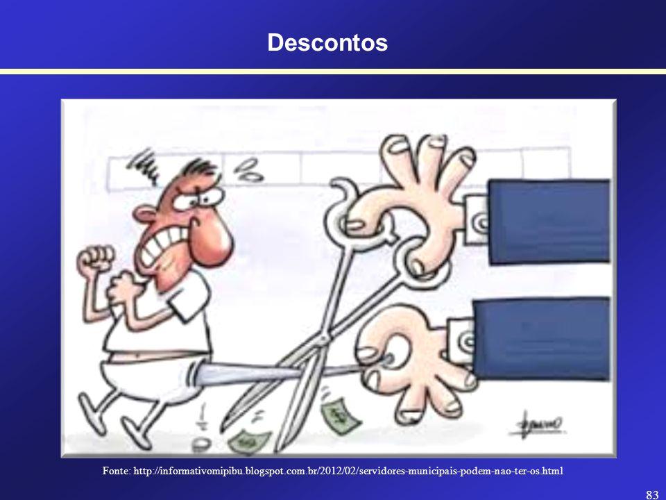 Descontos Fonte: http://informativomipibu.blogspot.com.br/2012/02/servidores-municipais-podem-nao-ter-os.html.