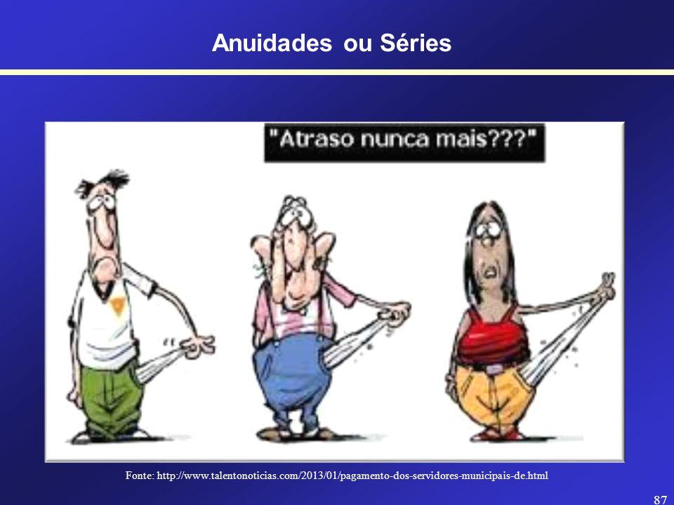 Anuidades ou Séries Fonte: http://www.talentonoticias.com/2013/01/pagamento-dos-servidores-municipais-de.html.