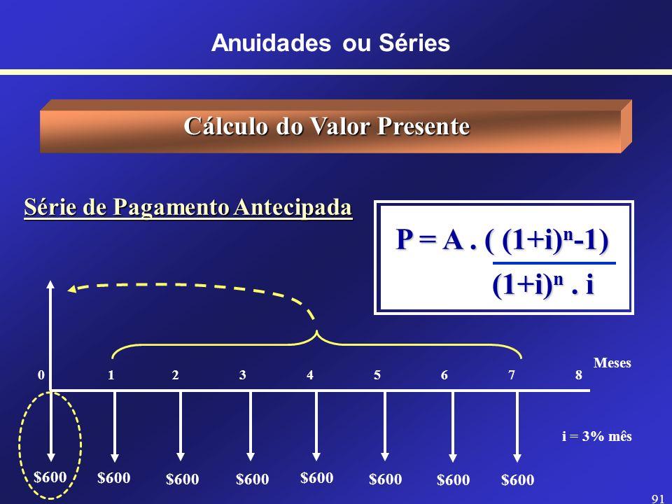 Cálculo do Valor Presente