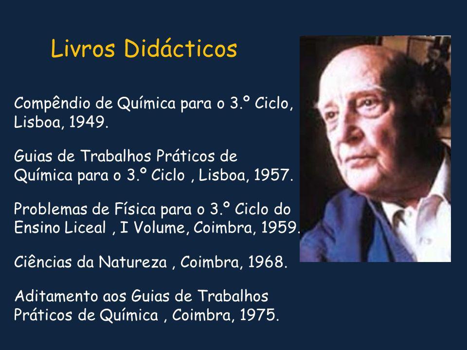Livros Didácticos Compêndio de Química para o 3.º Ciclo, Lisboa, 1949.