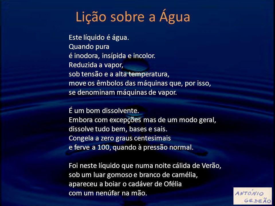 Lição sobre a Água