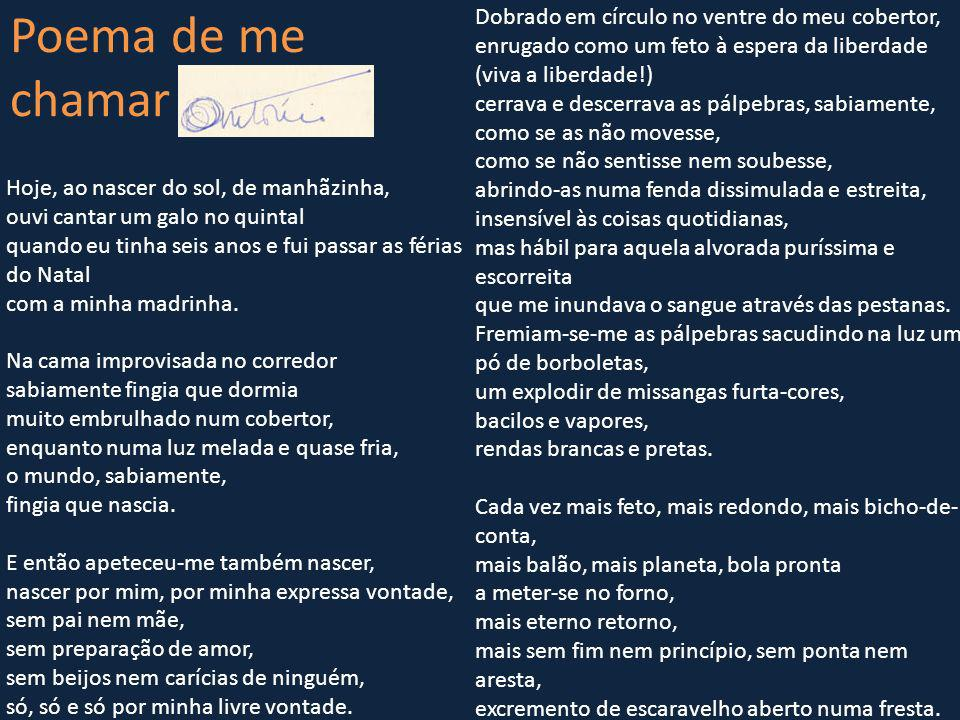 Poema de me chamar António