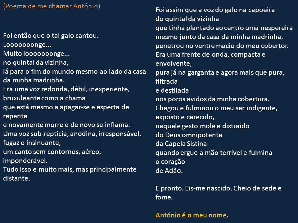 (Poema de me chamar António)