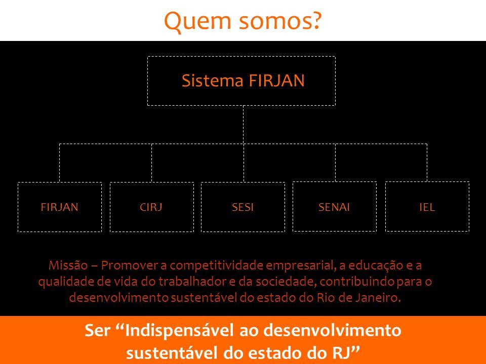 Ser Indispensável ao desenvolvimento sustentável do estado do RJ