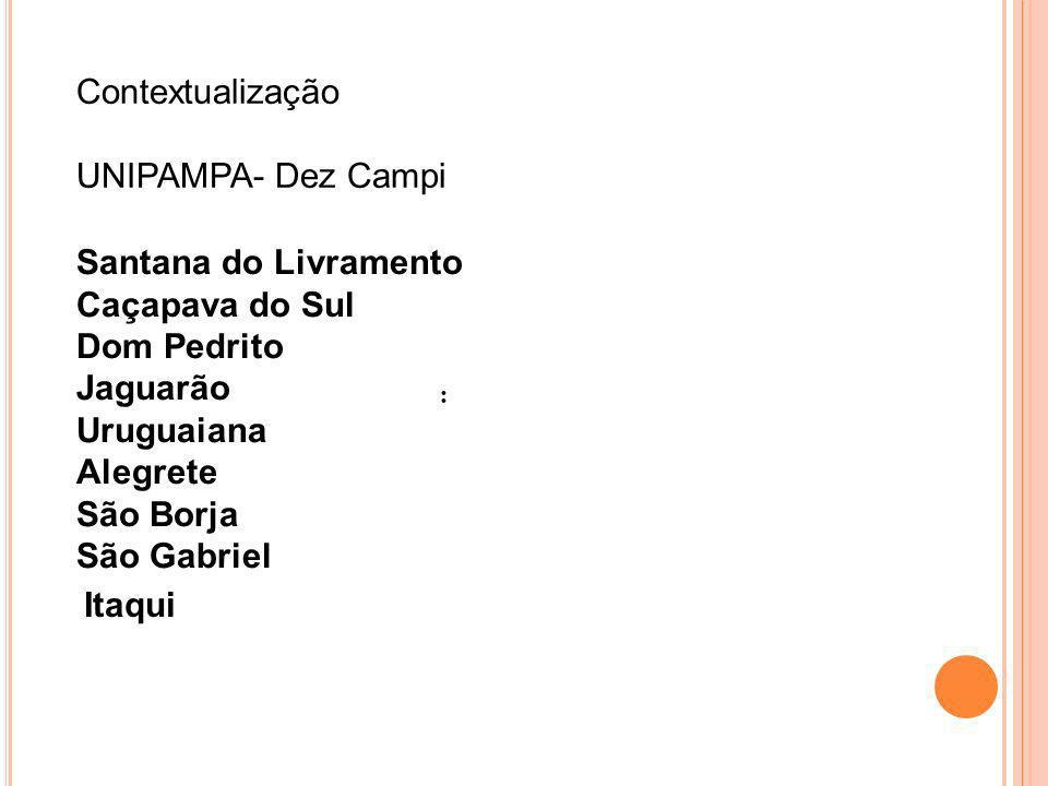 Contextualização UNIPAMPA- Dez Campi Santana do Livramento