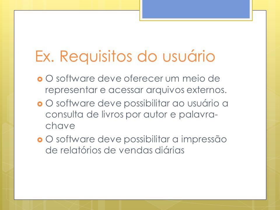 Ex. Requisitos do usuário