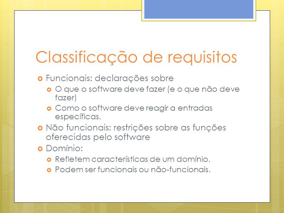 Classificação de requisitos