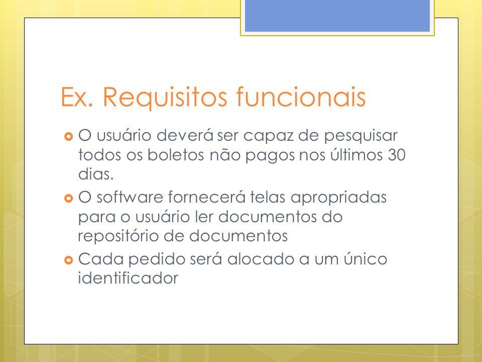 Ex. Requisitos funcionais