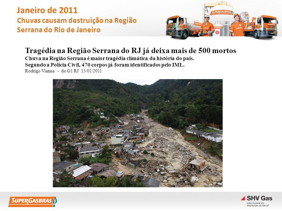 Janeiro de 2011 Chuvas causam destruição na Região Serrana do Rio de Janeiro