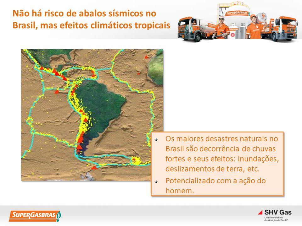 Não há risco de abalos sísmicos no Brasil, mas efeitos climáticos tropicais