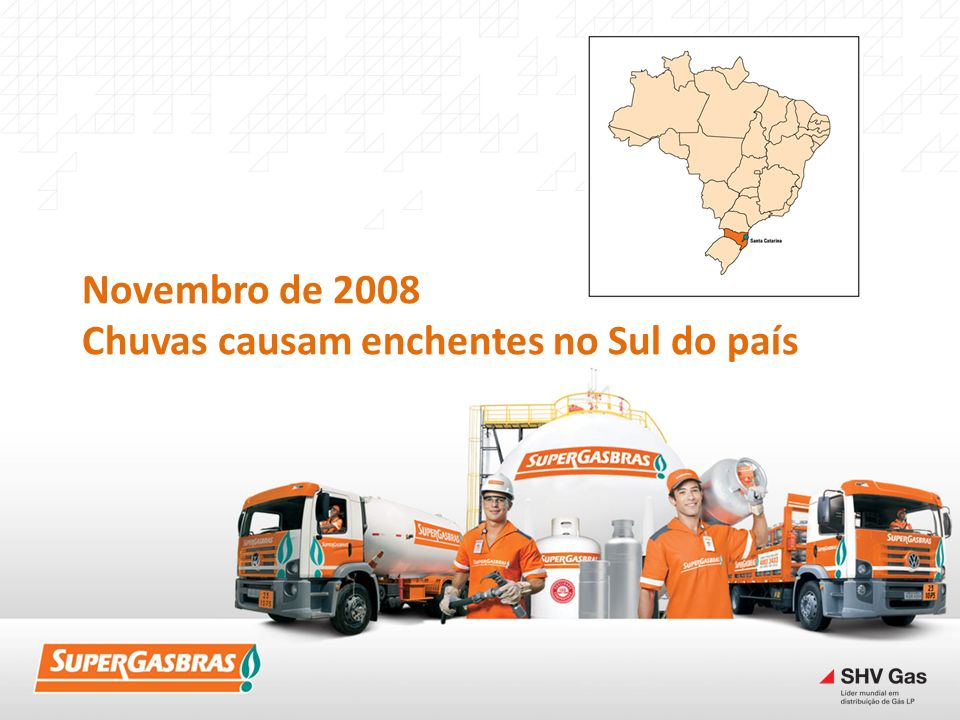 Novembro de 2008 Chuvas causam enchentes no Sul do país