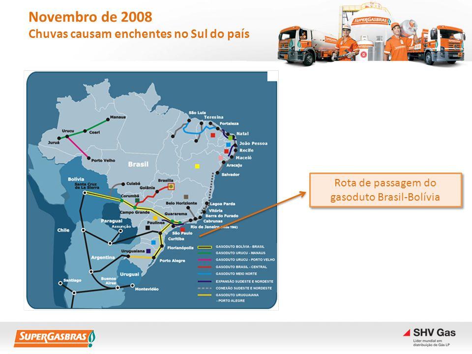 Rota de passagem do gasoduto Brasil-Bolívia