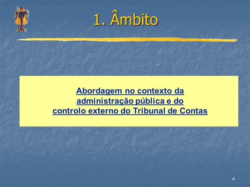 1. Âmbito Abordagem no contexto da administração pública e do