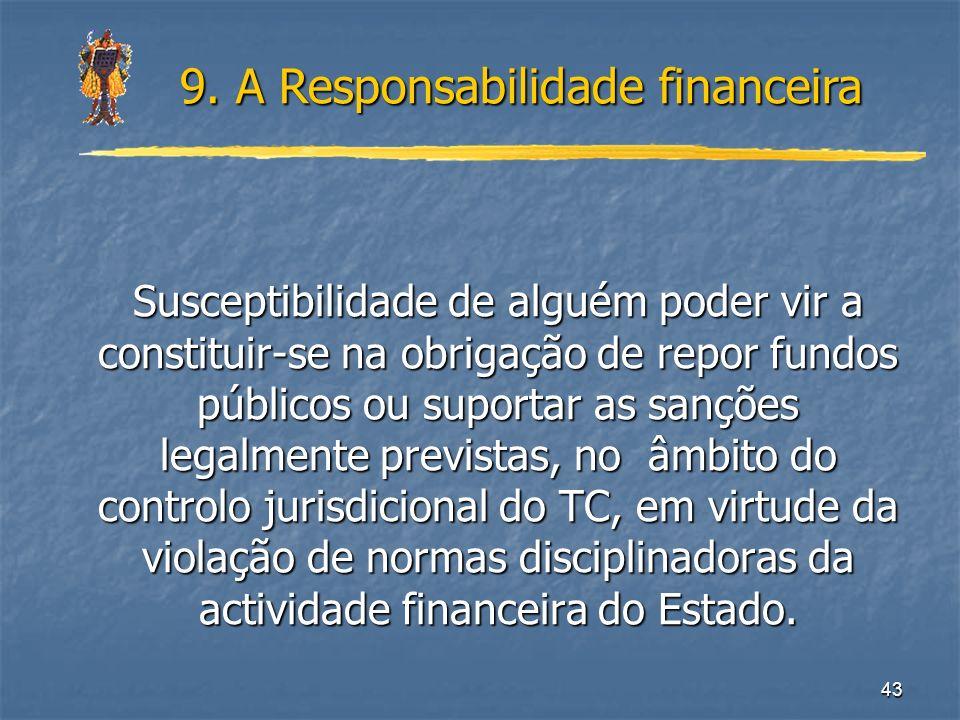 9. A Responsabilidade financeira