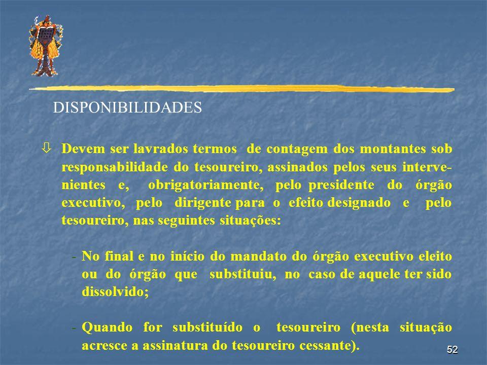 DISPONIBILIDADES