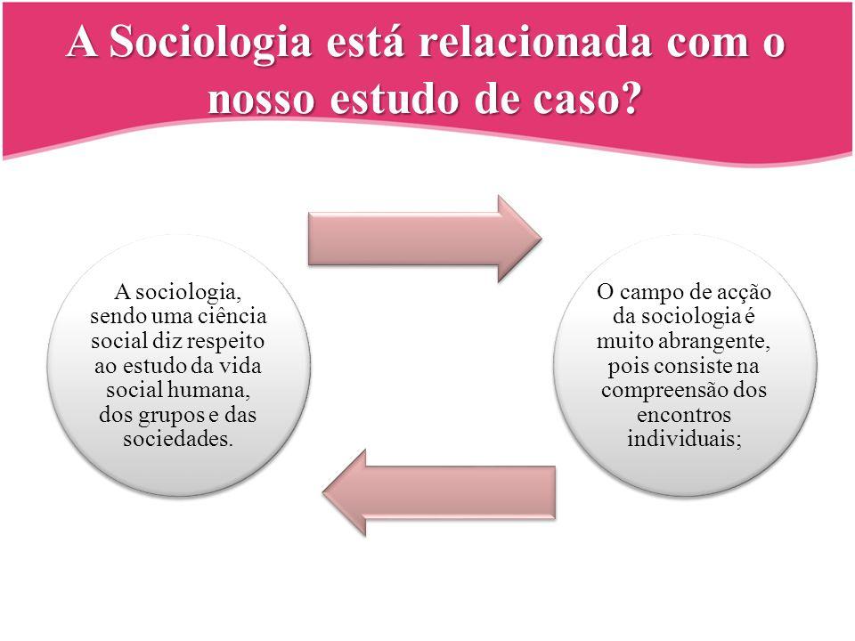A Sociologia está relacionada com o nosso estudo de caso