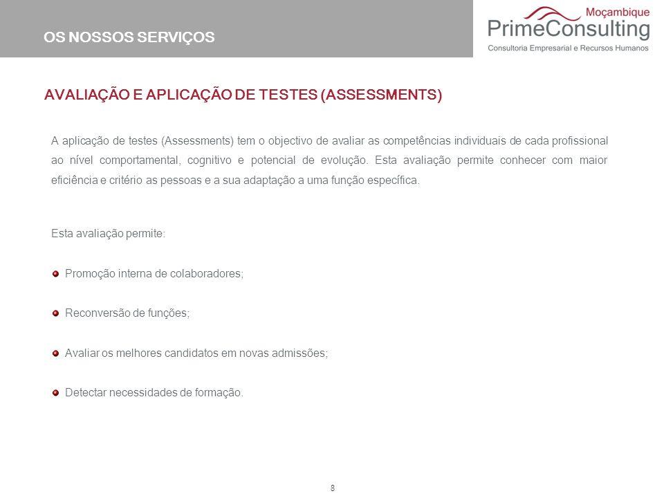 AVALIAÇÃO E APLICAÇÃO DE TESTES (ASSESSMENTS)