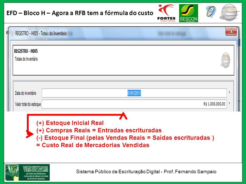 EFD – Bloco H – Agora a RFB tem a fórmula do custo