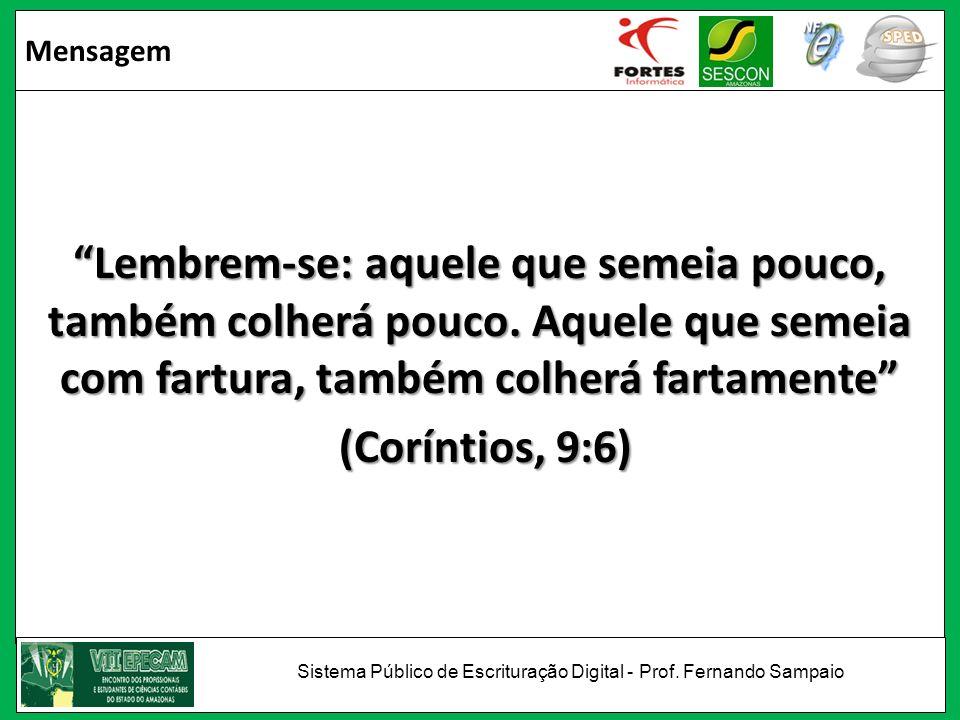 Sistema Público de Escrituração Digital - Prof. Fernando Sampaio