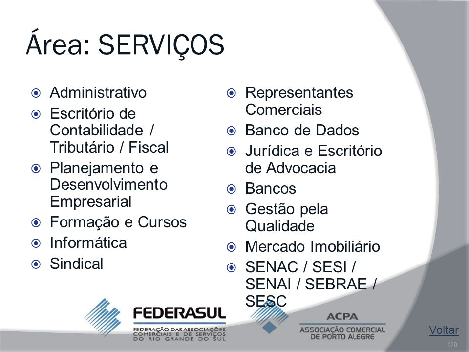 Área: SERVIÇOS Administrativo