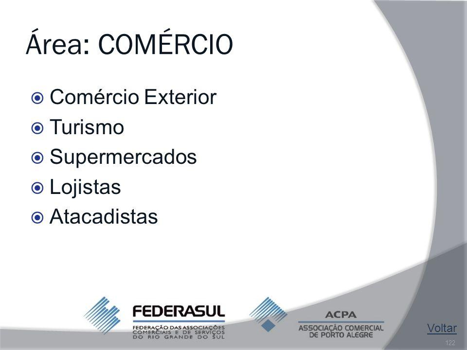 Área: COMÉRCIO Comércio Exterior Turismo Supermercados Lojistas