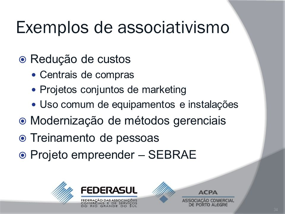 Exemplos de associativismo