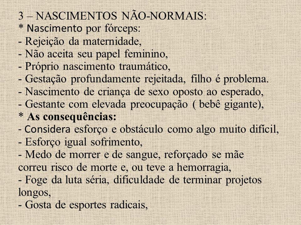 3 – NASCIMENTOS NÃO-NORMAIS: