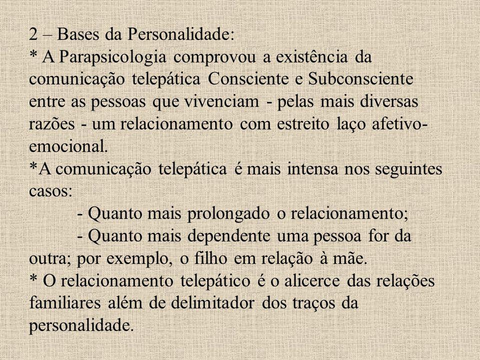 2 – Bases da Personalidade: