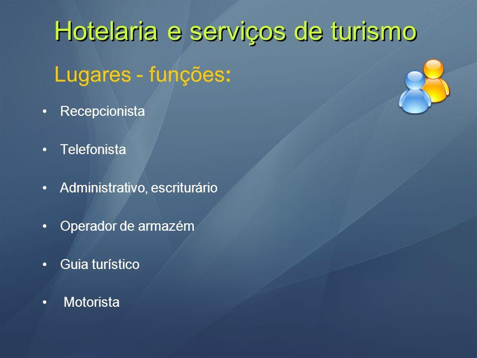 Hotelaria e serviços de turismo