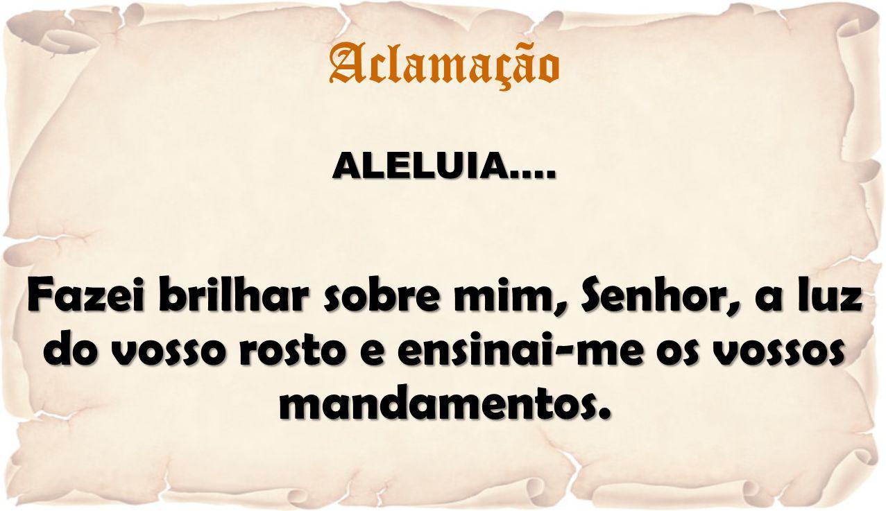 Aclamação ALELUIA….