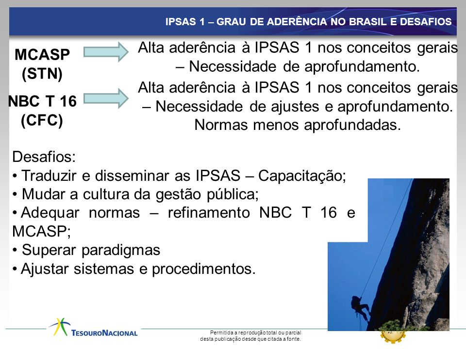 Traduzir e disseminar as IPSAS – Capacitação;