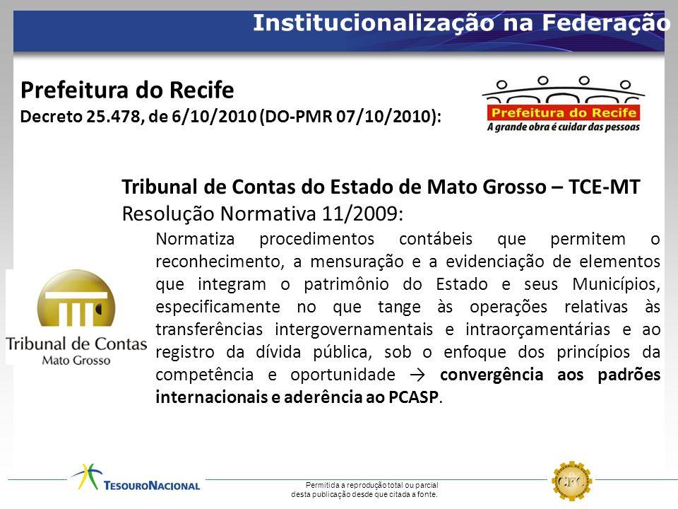 Prefeitura do Recife Institucionalização na Federação