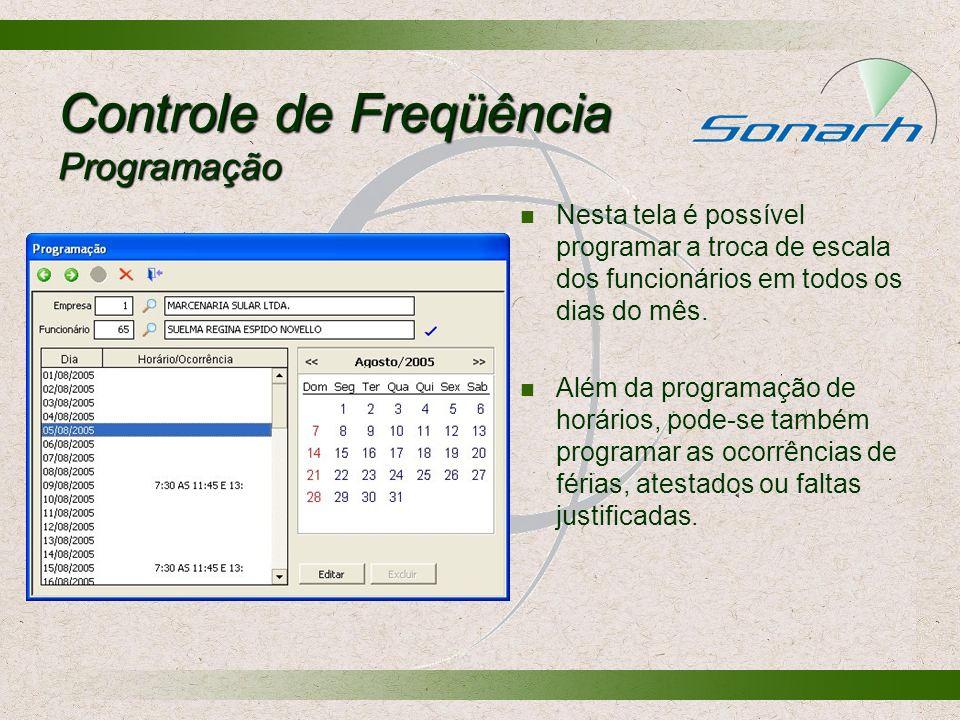 Controle de Freqüência Programação