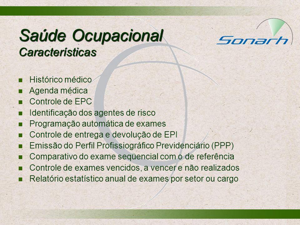 Saúde Ocupacional Características