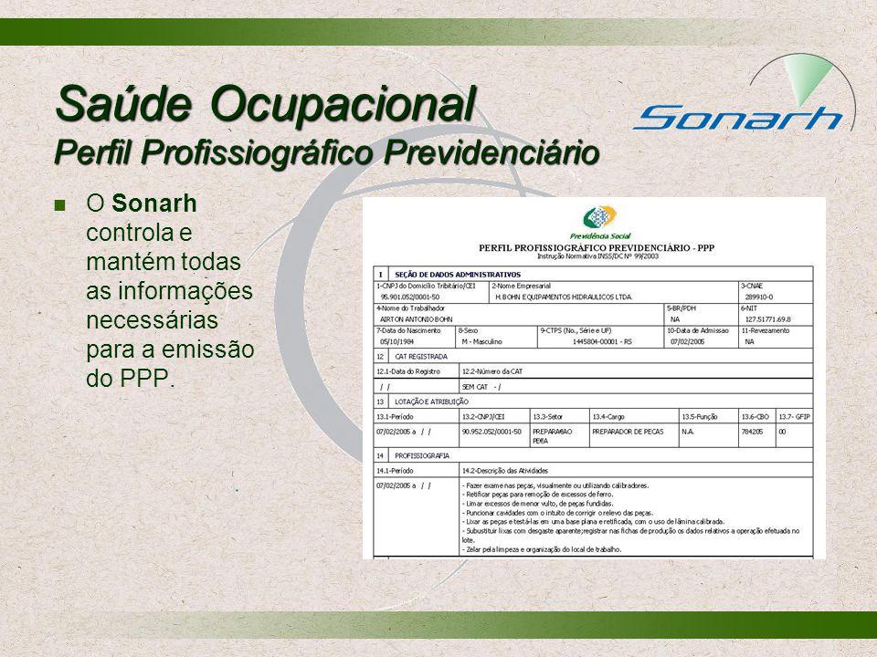 Saúde Ocupacional Perfil Profissiográfico Previdenciário