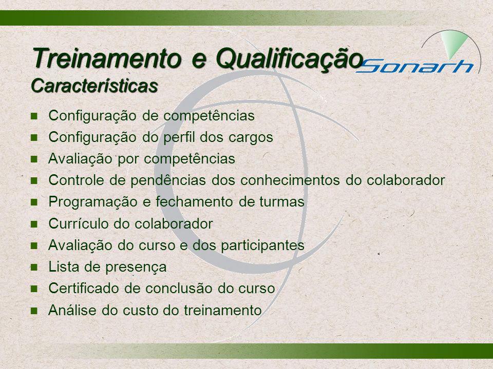Treinamento e Qualificação Características