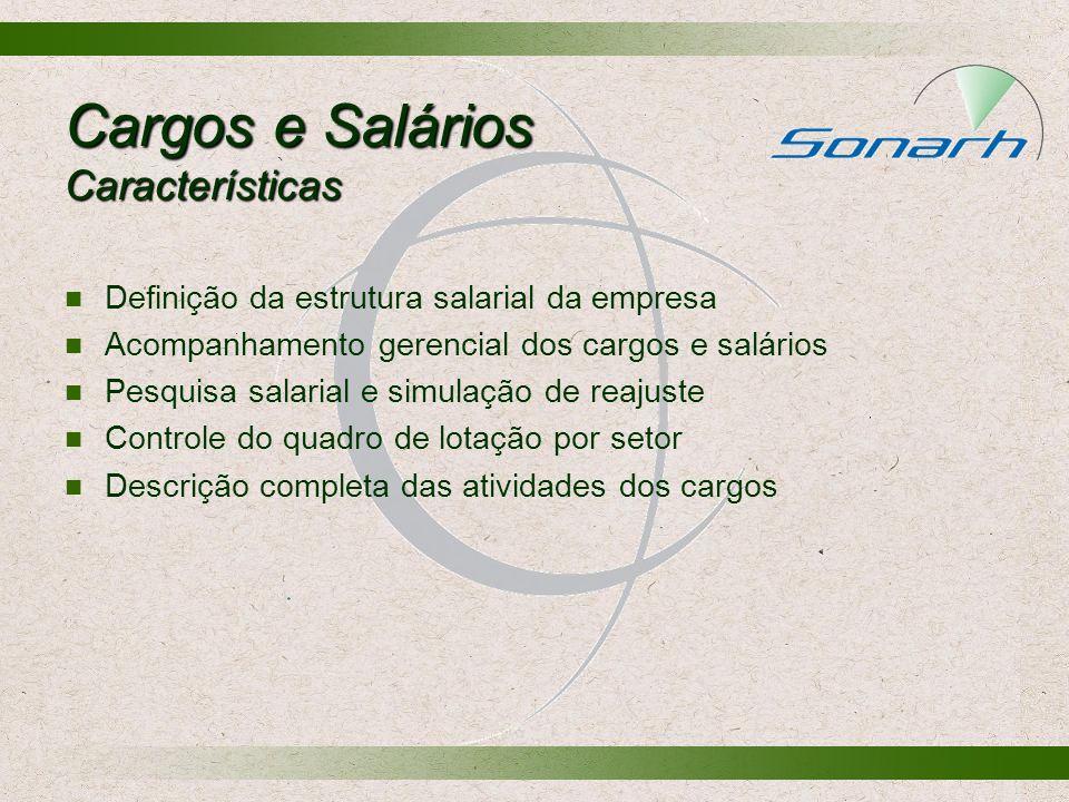 Cargos e Salários Características