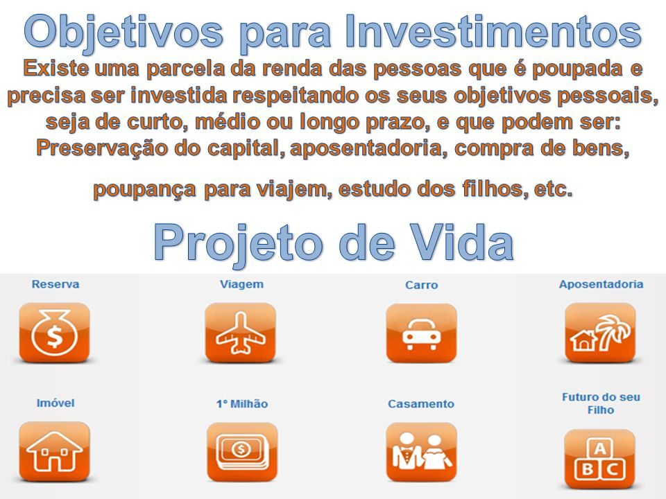 Objetivos para Investimentos
