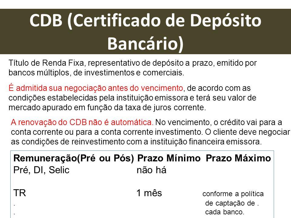 CDB (Certificado de Depósito Bancário)
