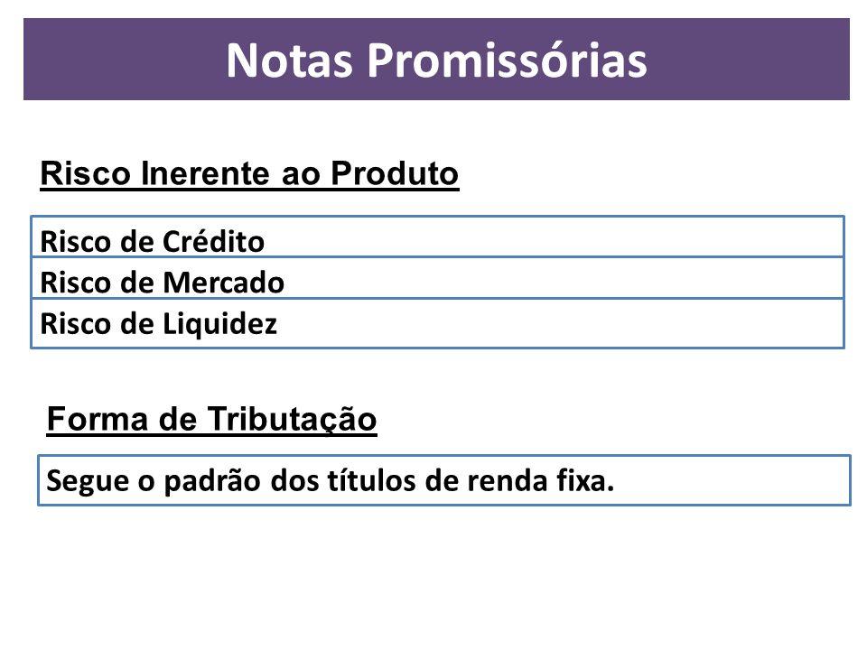 Notas Promissórias Risco Inerente ao Produto Risco de Crédito