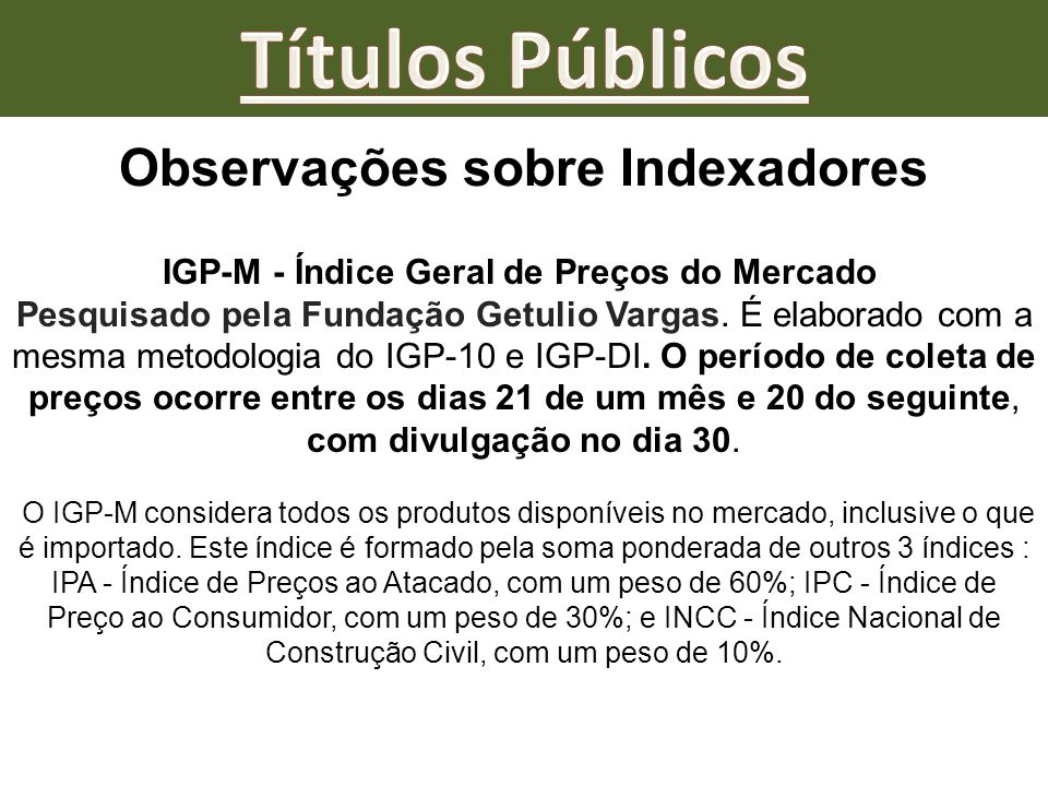 Observações sobre Indexadores