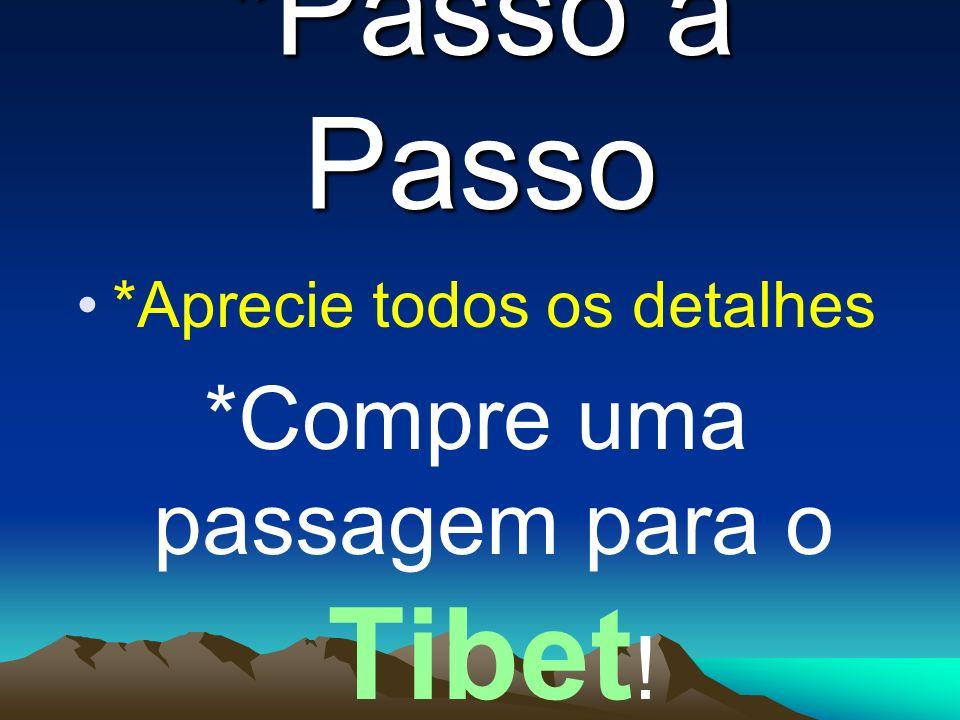 *Passo à Passo *Compre uma passagem para o Tibet!