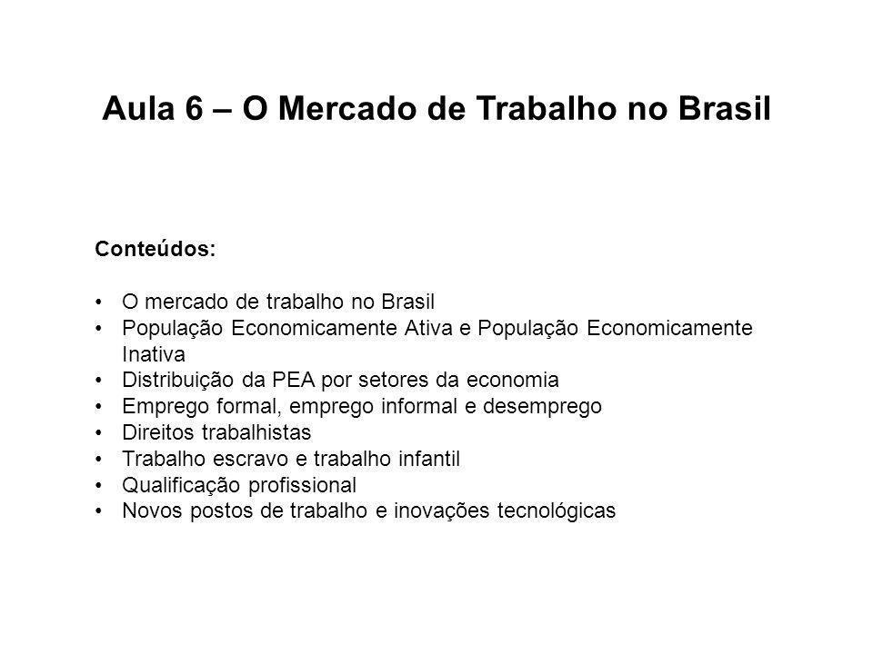 Aula 6 – O Mercado de Trabalho no Brasil