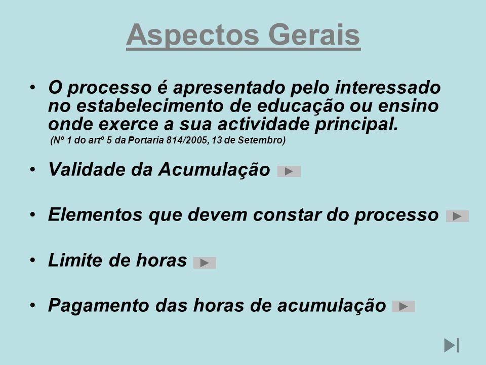 Aspectos Gerais O processo é apresentado pelo interessado no estabelecimento de educação ou ensino onde exerce a sua actividade principal.