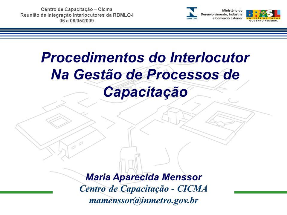Procedimentos do Interlocutor Na Gestão de Processos de Capacitação
